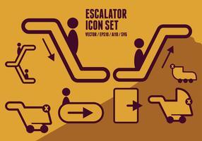Icônes escalator