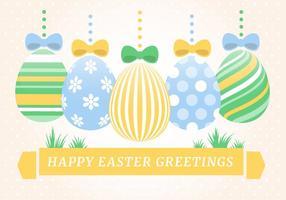 Contexte de Pâques vecteur de vacances