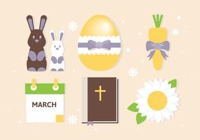 Collection Éléments de Pâques gratuit