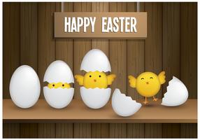 Vecteur poussins de Pâques gratuit