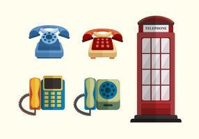 Collection Classique Vecteur Téléphone plat