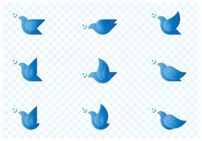 Oiseau Colombe Set Logo vecteur
