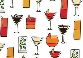 Modèle de cocktails vecteur