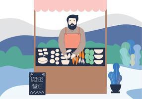 Veggie Illustration marché vecteur