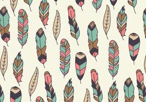 Beau motif coloré de plumes vecteur