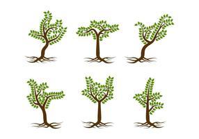 Arbre unique gratuit avec des racines vecteurs