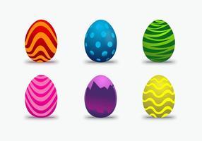 Vecteur coloré aux oeufs de Pâques