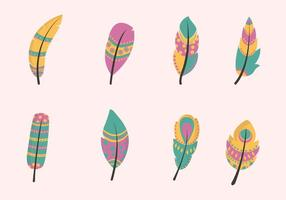 Vecteurs de plumes plates