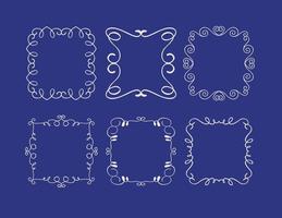 Collection mignon Cadres Doodle vecteur