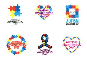 Vecteur de la Journée de sensibilisation à l'autisme