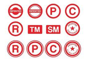 Pack Vector Stamp de brevet