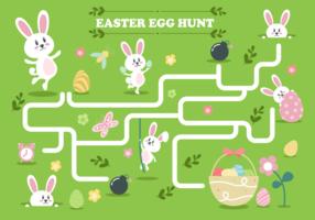 Easter Egg Hunt Illustration Vecteur