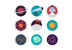 Icônes vecteur libre Astronomie