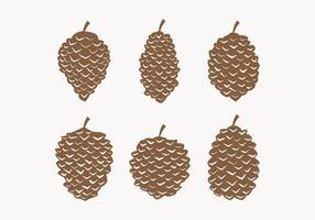 Collection Vector Pine Cones