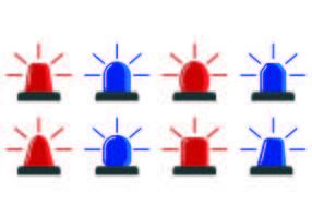 Icône de lumières de police vecteur