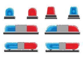 Police lumières Set vecteur