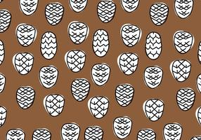 Brown & White Pine Cones Géométrique vecteur