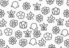 Fleurs noir et blanc vecteur