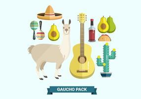 Gaucho pack Vecteurs Collections vecteur