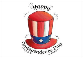 Aquarelle Chapeau Oncle Sam Independence Day