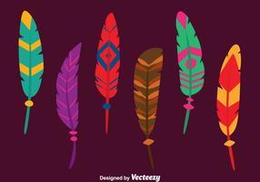 Beaux vecteurs de plumes d'oiseaux vecteur