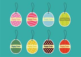 Oeufs de Pâques décoratifs vecteur