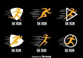 Course de 5 km Vecteurs Collection Logo