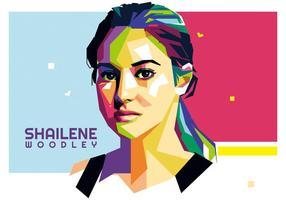 Shailene woodley vector wpap