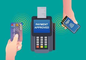 Vecteur de paiement NFC