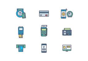 Icon Pack de paiement E-Commerce vecteur