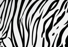 White Tiger Stripe Motif Vector