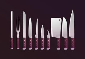 Vecteur Collections knifes
