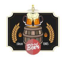 Étiquette de bière vecteur