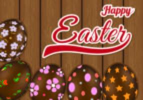Arrière-plan de chocolat Oeufs de Pâques vecteur