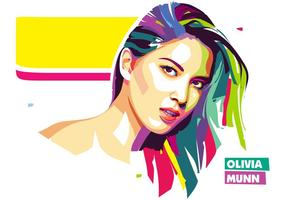 Olivia Munn Vector Popart Portrait