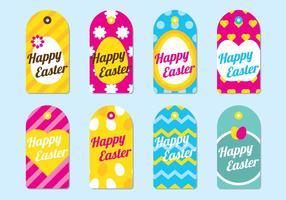 Tag Joyeuses Pâques vecteur