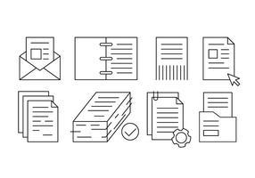 Gratuit Bureau linéaire documents et papiers vecteur