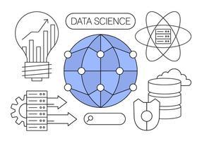 Données Science libre Vector Illustrations