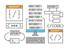 Vecteurs de développement Web gratuit linéaire vecteur