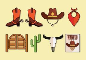 Collection d'icônes vectorielles gaucho vecteur