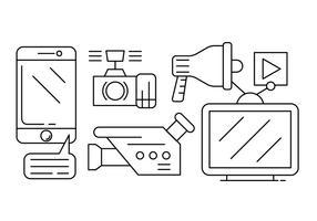 Icônes vecteur médias libres
