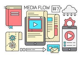 Médias Éléments de flux linéaire libre