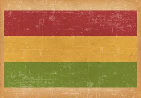 Drapeau grunge de la Bolivie vecteur