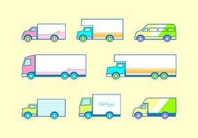 Icône plat mobile Van vecteur libre