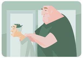 Old Men avec le vecteur Physiothérapeute