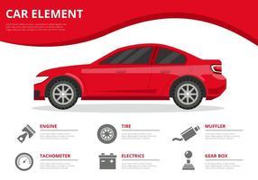 Vecteur d'infographie gratuit d'élément de voiture