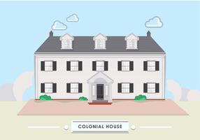 Maison colonoal vecteur
