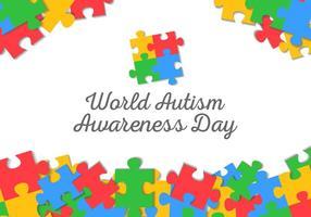 Gratuit mondiale de l'autisme vecteur de fond jour