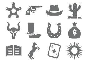 Cowboy icônes vecteur libre