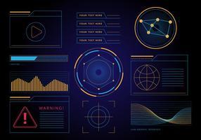 Vecteur libre HUD Interface graphique